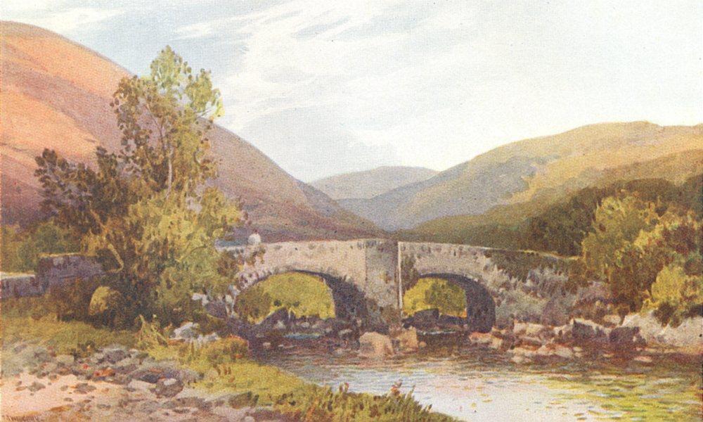 Associate Product DEVON. Fingle Bridge 1908 old antique vintage print picture