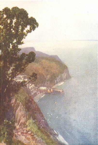 DEVON. Clovelly (1)  1908 old antique vintage print picture