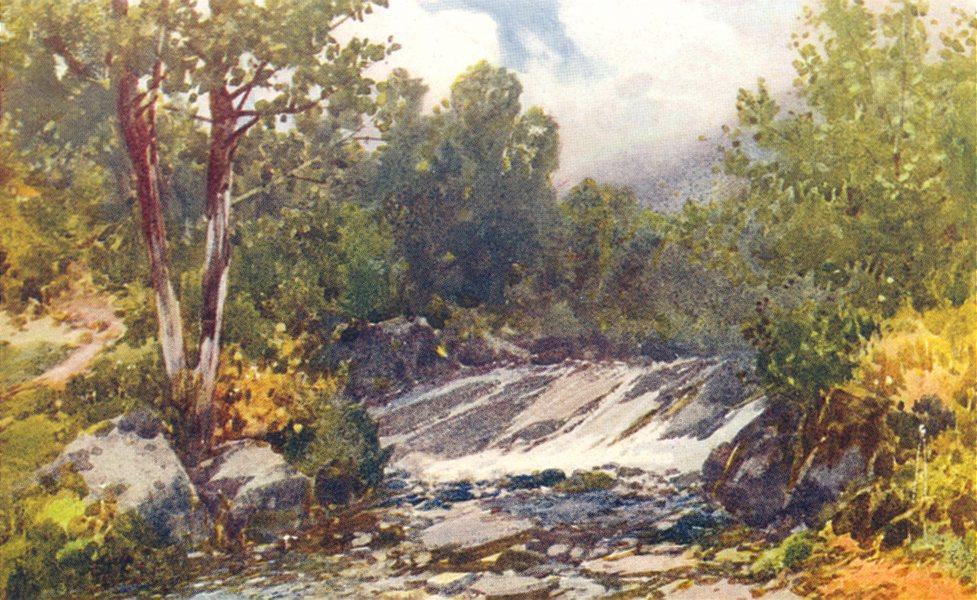 Associate Product DEVON. Waterslide. Doone Valley 1908 old antique vintage print picture