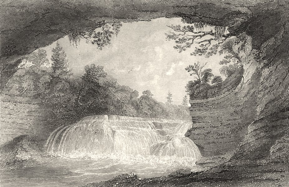 Associate Product NY. Lower cataract Casconchiagon Seneca river lake Ontario 1768 1849 old print