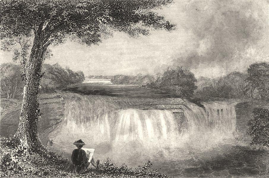 Associate Product NEW YORK STATE. Falls Casconchiagon little Seneca River, Lake Ontario 1768 1849