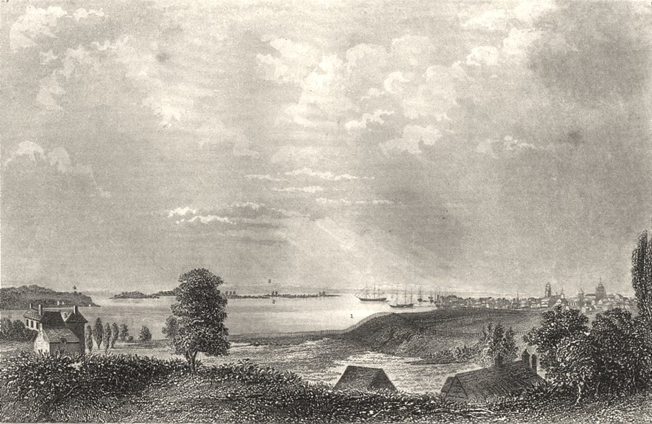 Associate Product NEW YORK CITY. Nutting Staten Long island, Rutgars House, S river, Brew 1850