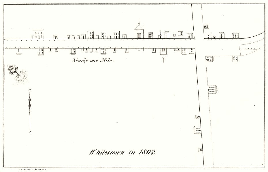 Associate Product NEW YORK STATE. Whitestown, in 1802 1850 old antique vintage map plan chart