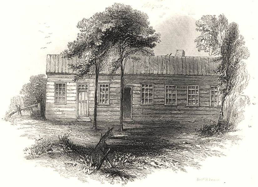 Associate Product NEW JERSEY. Baron Steubens Residence, River Edge; 1802 1850 old antique print