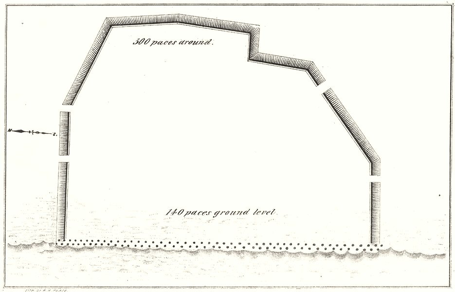 Associate Product NEW YORK STATE. Plan of a fort 1850 old antique vintage map chart