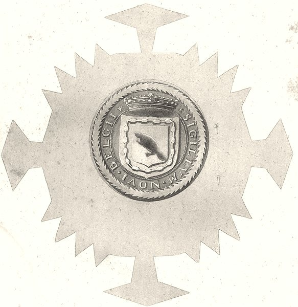 NEW YORK STATE. Seal of New Netherlands 1623 to 1664 1851 old antique print