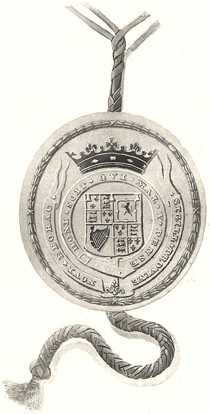 Associate Product NEW YORK STATE. Great Seal of the Province of New York 1670-1673. 1674-1687 1851