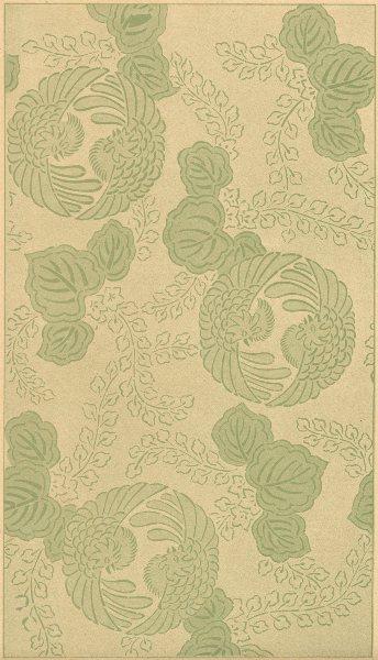 Associate Product JAPAN. Decorative design- Cocks 1890 old antique vintage print picture
