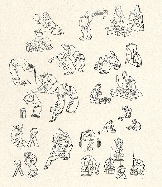 Associate Product JAPAN. Bits of Every- day Life. By Keisai Kitao Massayoshi 1890 old print