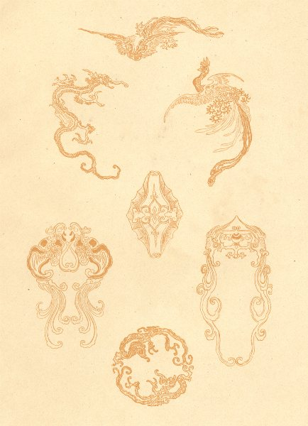Associate Product JAPAN. Patterns for Graving on Metal 1890 old antique vintage print picture