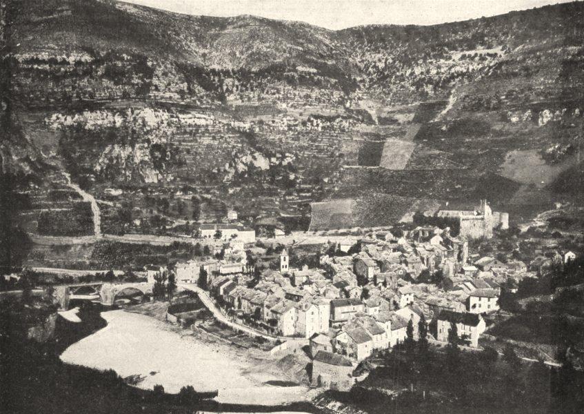 Associate Product LOZÈRE. Vue Générale de Sainte- Énimie 1900 old antique vintage print picture