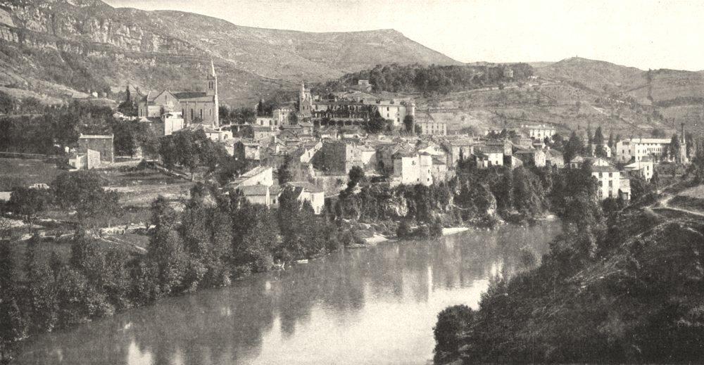 Associate Product AVEYRON. Creissels, Près de Millau, Sur le Tarn 1900 old antique print picture