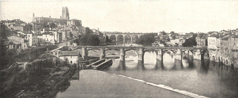 Associate Product TARN. Le Tarn en vue D'albi 1900 old antique vintage print picture