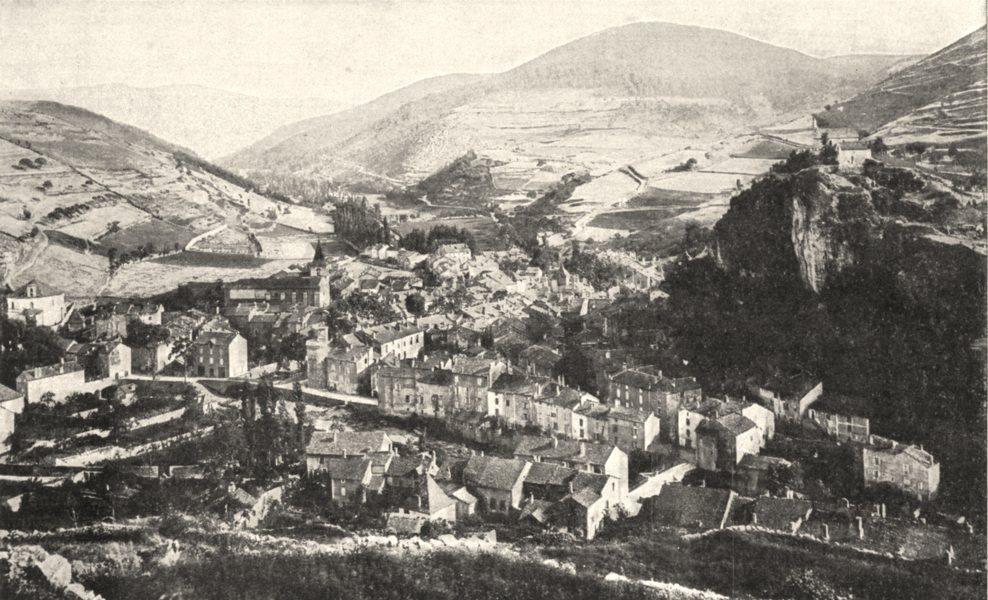 Associate Product LOZÈRE. Meyrueis et la Vallée de la Jonte 1900 old antique print picture