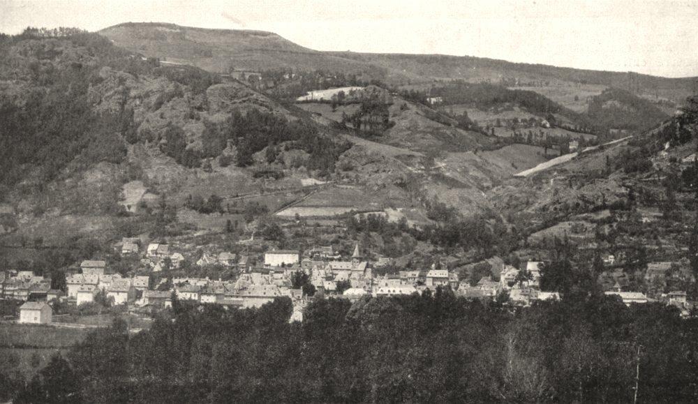 Associate Product CANTAL. Vue Générale de Vic- Sur- Cère 1900 old antique vintage print picture