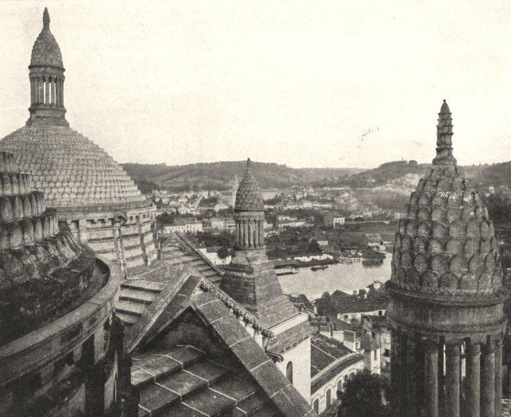 Associate Product DORDOGNE. Val de L'isle a Travers Dômes Cathédrale Périgueux 1900 old print