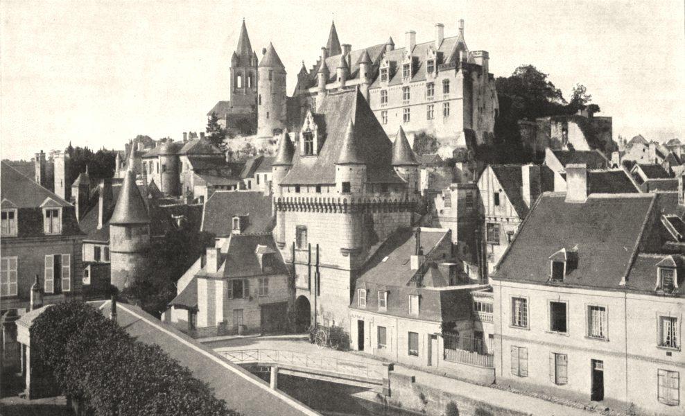 Associate Product INDRE- - LOIRE. Loches. Porte Cordeliers, Logis roi collégiale Saint- Ours 1900