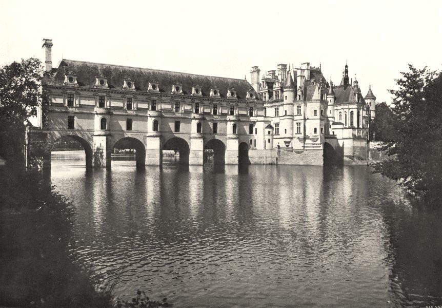 Associate Product INDRE- ET- LOIRE. Chateau de Chenonceaux. Façade Orientale sur le Cher 1900