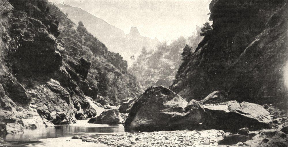Associate Product LOIRE. Vallée de la Semène 1900 old antique vintage print picture