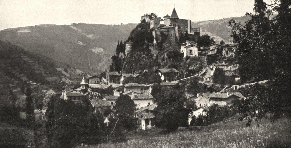 Associate Product LOIRE. Cornillon- sur- Loire 1900 old antique vintage print picture