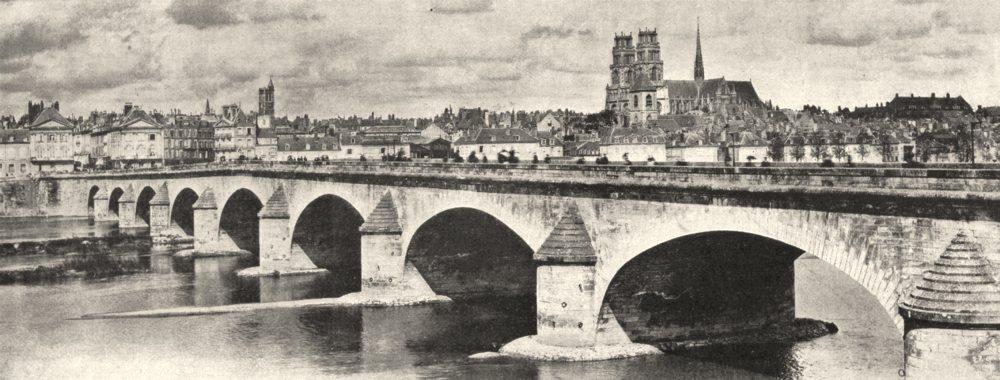 Associate Product LOIRET. La Loire a Orléans 1900 old antique vintage print picture