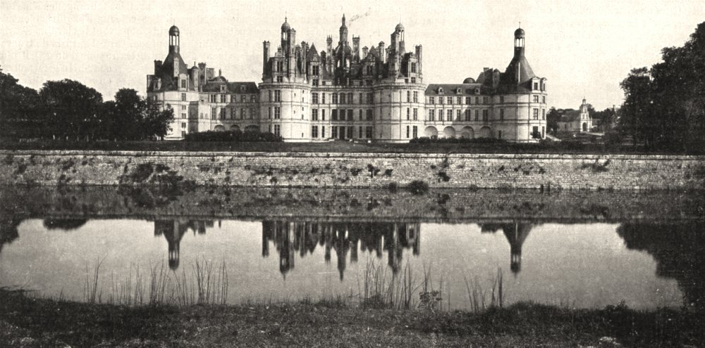 Associate Product LOIR- ET- CHER. Chateau de Chambord. A la Rive du Cosson 1900 old print