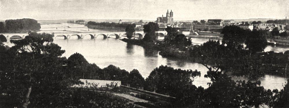 Associate Product INDRE- ET- LOIRE. La Loire a Tours 1900 old antique vintage print picture
