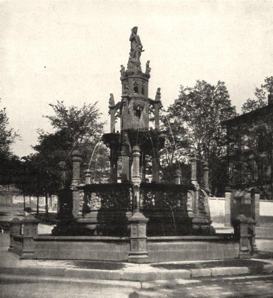 Associate Product INDRE- ET- LOIRE. La Fontaine D'amboise, A Clermont- Ferrand 1900 old print