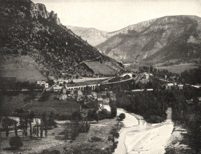 LOZÈRE. Vue Générale de Balsièges (Lozére)  1900 old antique print picture