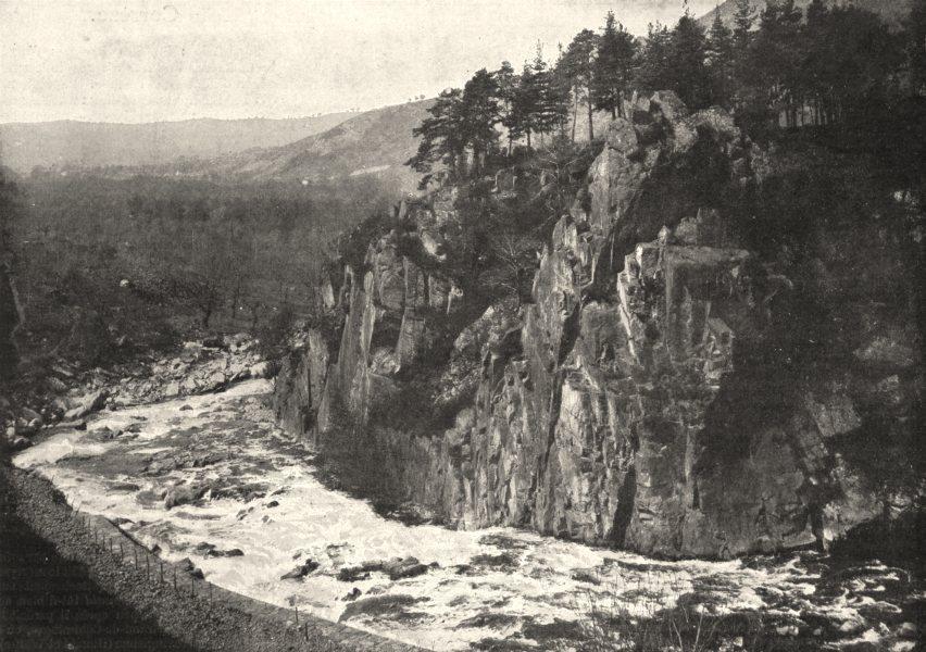 Associate Product CORRÈZE. Le saut du Saillant, Dans les Gorges de la Vézère 1900 old print