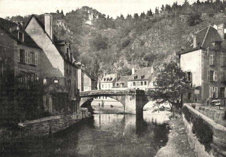 Associate Product CREUSE. Aubusson. Les Bords De la Creuse 1900 old antique print picture
