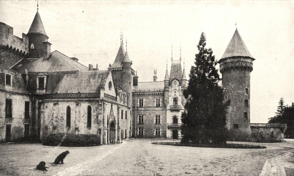 Associate Product ALLIER. Chateau de Bourbon- Busset, Près de Vichy 1900 old antique print