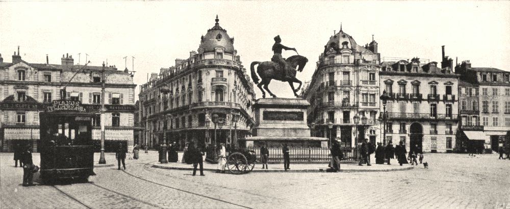Associate Product LOIRET. Orléans. Pl Martroi statue Jeanne D'arc (Par Foyatier)  1900 old print