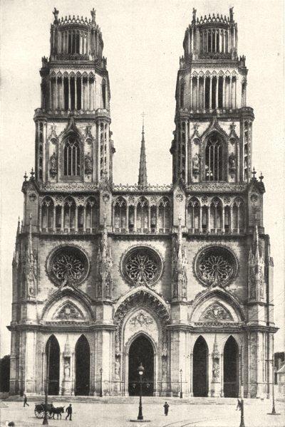 Associate Product LOIRET. Orleans. Cathédrale Sainte- Croix 1900 old antique print picture