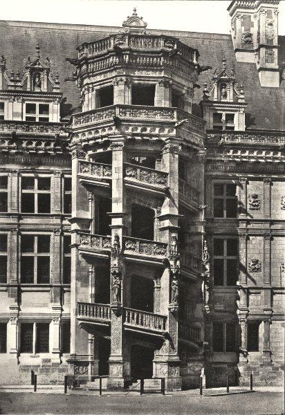 Associate Product LOIR- ET- CHER. Chateau de Blois. Escalier de François Ier 1900 old print