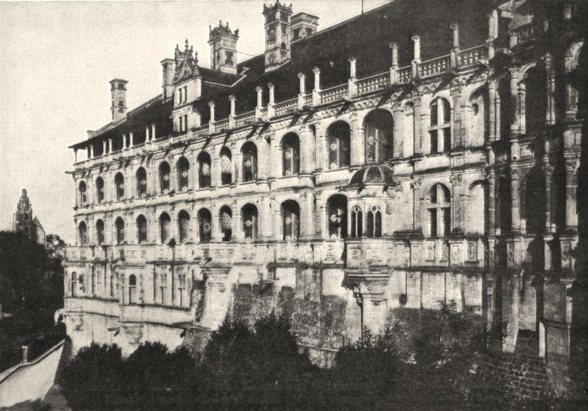 Associate Product LOIR- ET- CHER. Chateau de Blois. Galeries François Ier 1900 old antique print