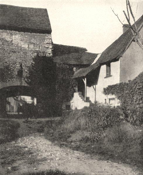 Associate Product INDRE. Vieille porte, a Déols 1900 old antique vintage print picture