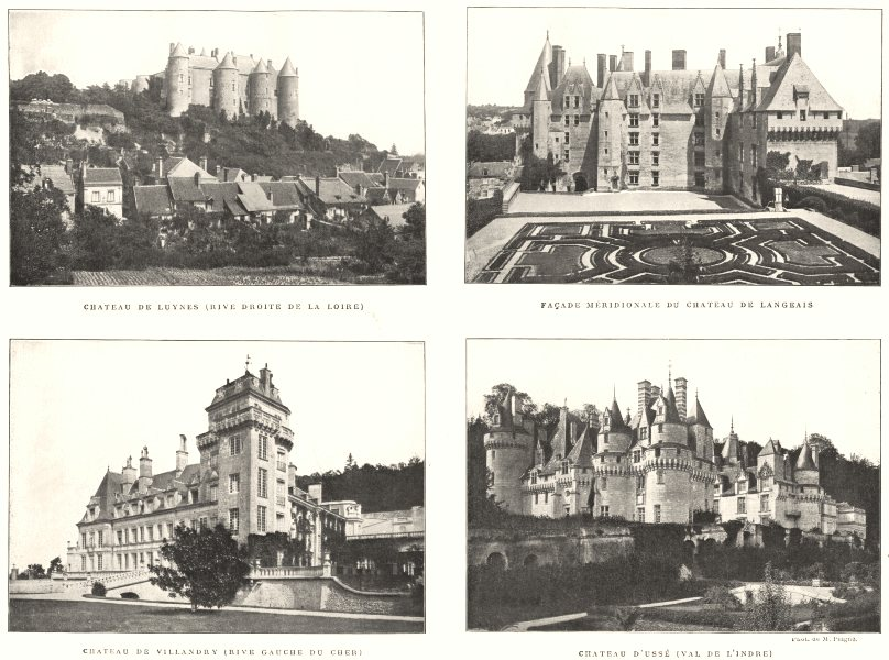 Associate Product CHATEAUX TOURAINE.Luynes(Loire);Langeais;Villandry(Cher);Ussé(Indre) 1900
