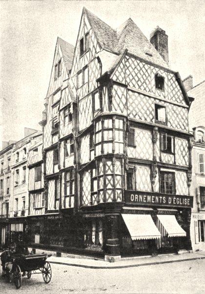 Associate Product MAINE- ET- LOIRE. Angers. La Maison D'adam 1900 old antique print picture