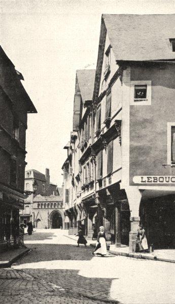 CÔTES- D'ARMOR. Dinan. Vieilles Maisons de la rue des Cordeliers 1900 print