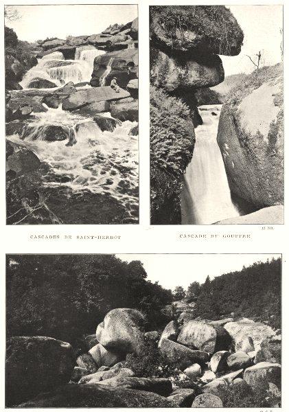Associate Product HUELGOAT. Cascades St- Herbot; Cascade Gouffre; . Chaos dit Ménage Vierge 1900