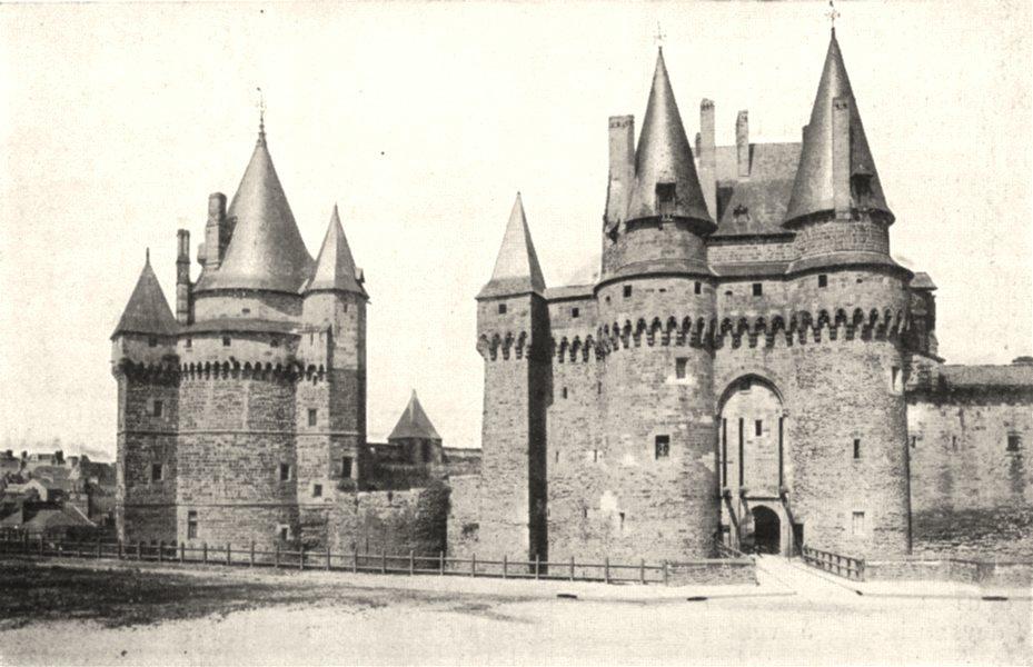 Associate Product ILLE- - VILAINE. Chateau Vitré. Chatelet tour Saint- Laurent 1900 old print