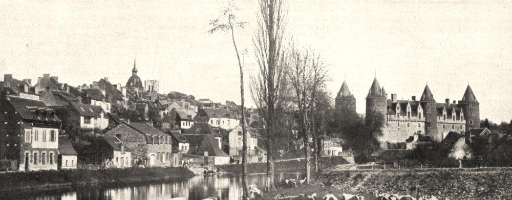 Associate Product MORBIHAN. Vue Générale de, Josselin 1900 old antique vintage print picture