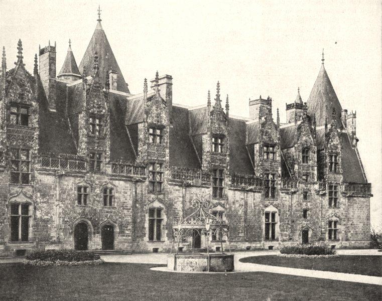 Associate Product MORBIHAN. Façade Intérieure du Chateau de Josselin 1900 old antique print