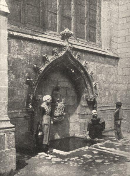 Associate Product FINISTÈRE. La Fontaine du Folgoat 1900 old antique vintage print picture