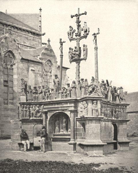 Associate Product FINISTÈRE. Calvaire de Plougastel- Daoulas 1900 old antique print picture