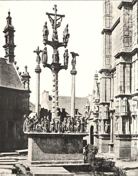 Associate Product FINISTÈRE. Calvaire de Saint- Thégonnec 1900 old antique vintage print picture