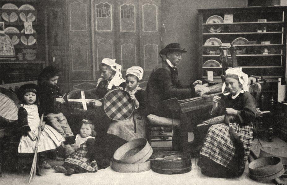 Associate Product FINISTÈRE. Fabricant de Tamis a Bannalec 1900 old antique print picture