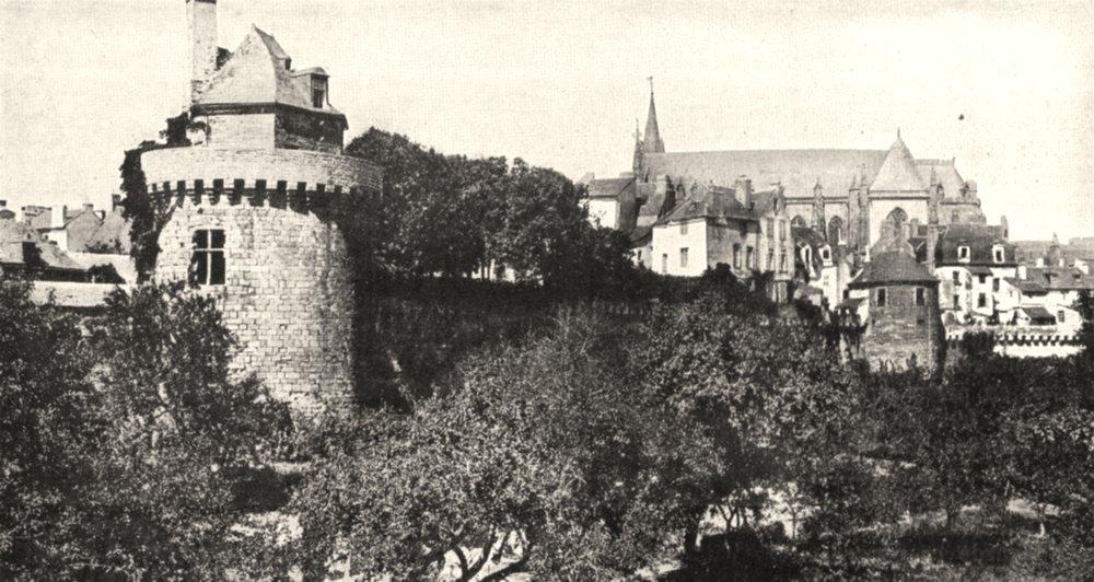 Associate Product MORBIHAN. Vannes. Les Remparts et la tour du Connétable 1900 old antique print