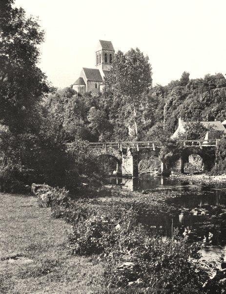 Associate Product ORNE. Saint- Céneri- le- Gérei, Sur Sarthe 1900 old antique print picture